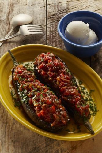 Stuffed Baby Eggplant - Papoutsakia small(1)